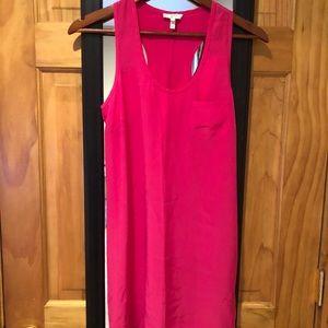 Joke 100% Silk Peri B Tank Dress in Pink